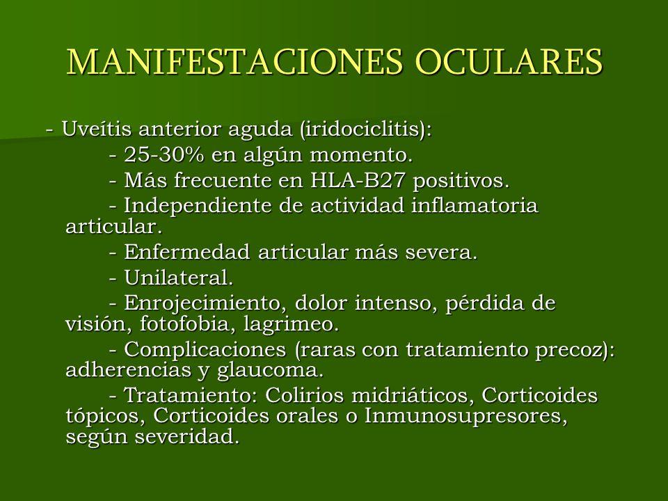 MANIFESTACIONES OCULARES