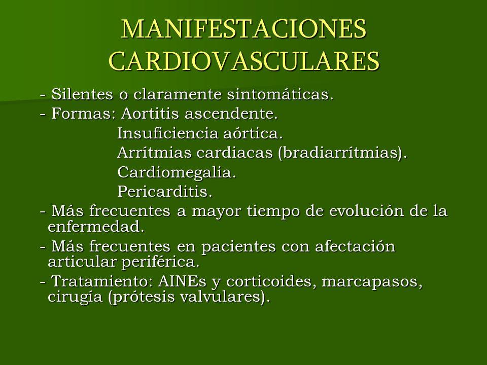 MANIFESTACIONES CARDIOVASCULARES