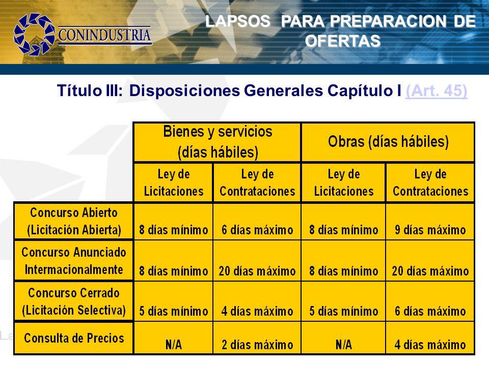LAPSOS PARA PREPARACION DE
