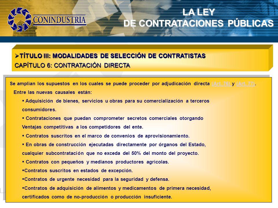 DE CONTRATACIONES PÚBLICAS