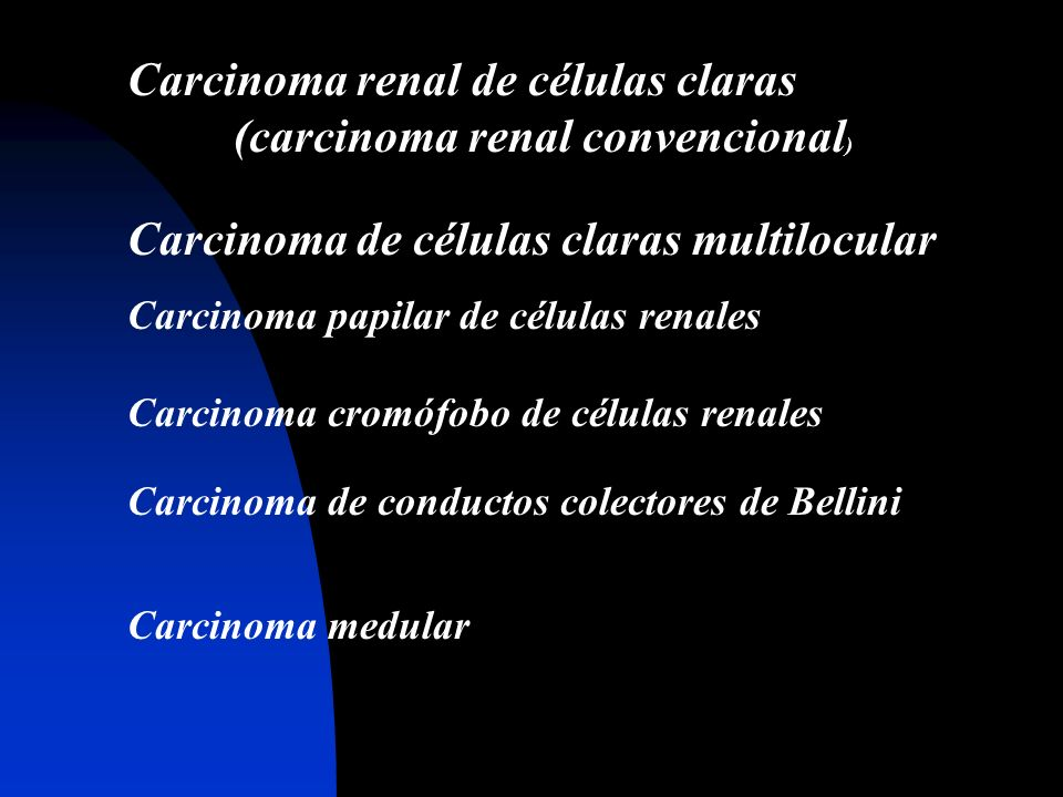 Carcinoma renal de células claras (carcinoma renal convencional)