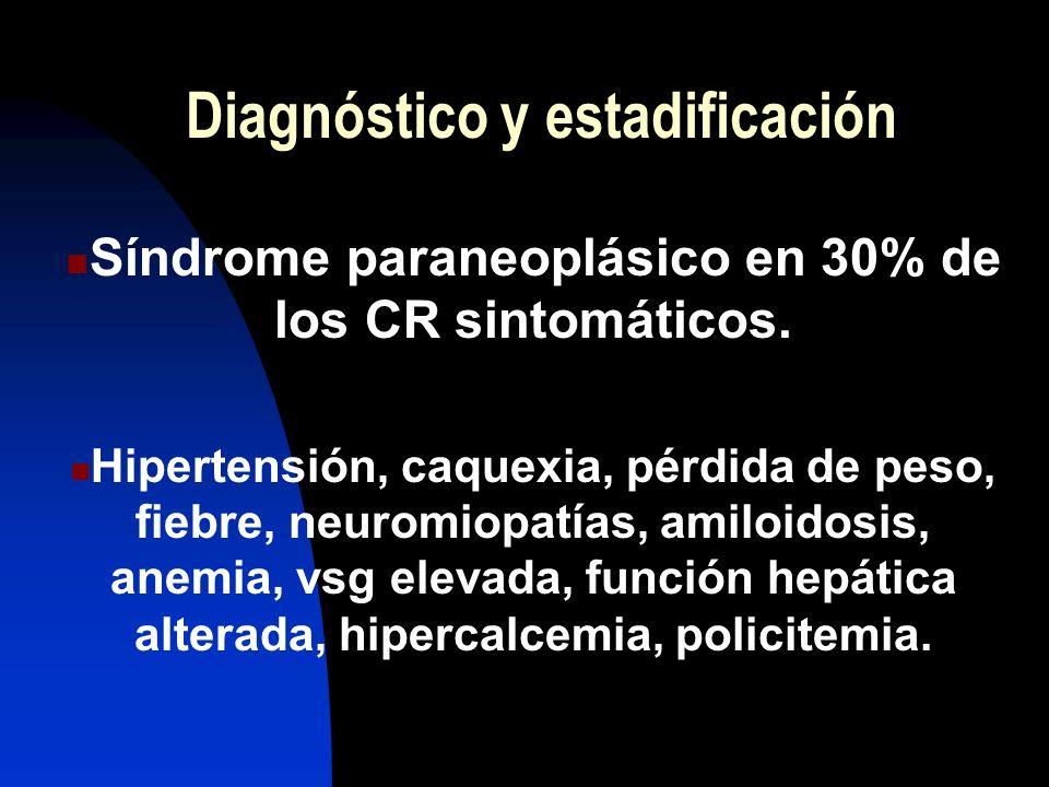 Diagnóstico y estadificación