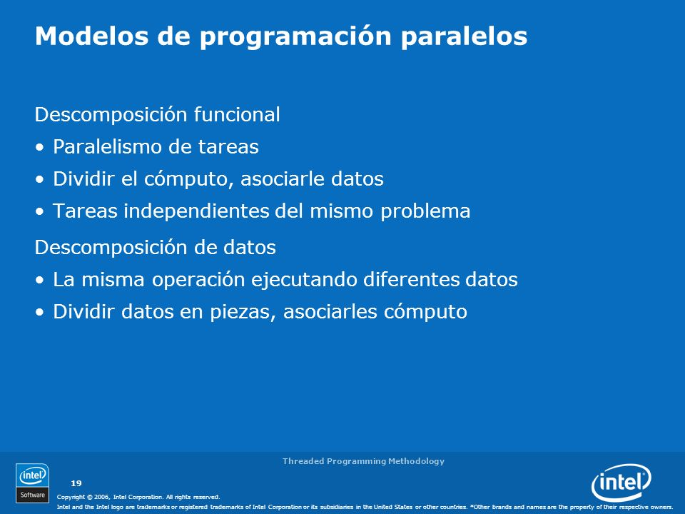 Modelos de programación paralelos