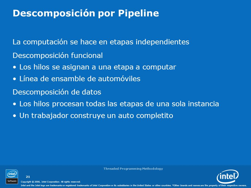 Descomposición por Pipeline