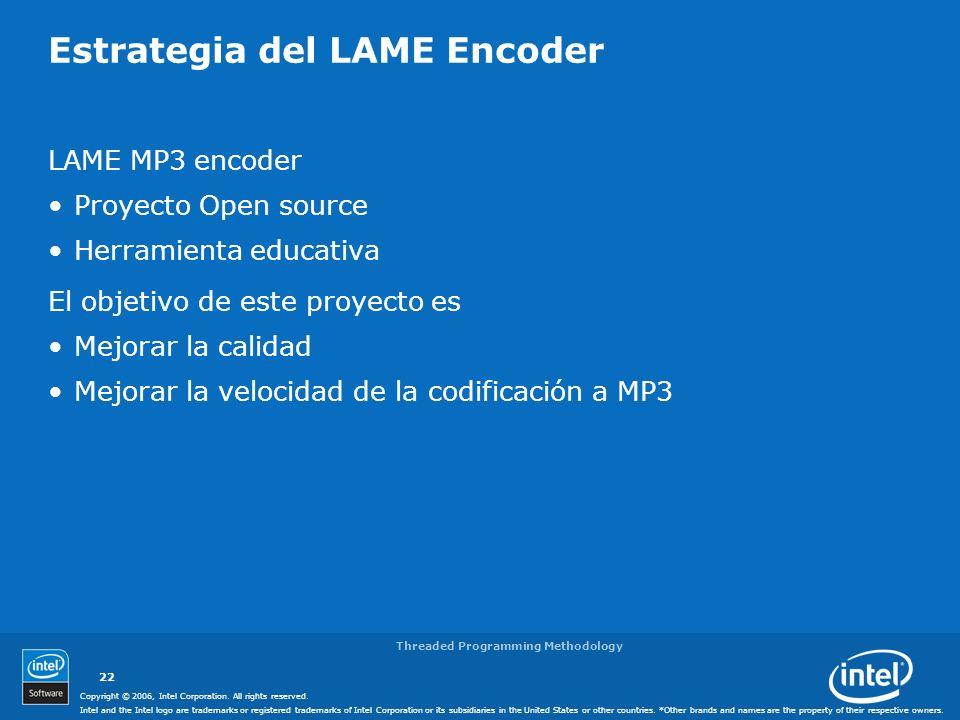 Estrategia del LAME Encoder