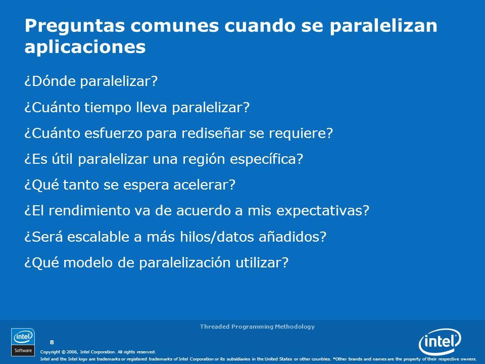 Preguntas comunes cuando se paralelizan aplicaciones