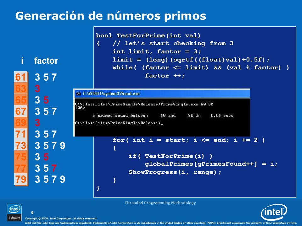 Generación de números primos