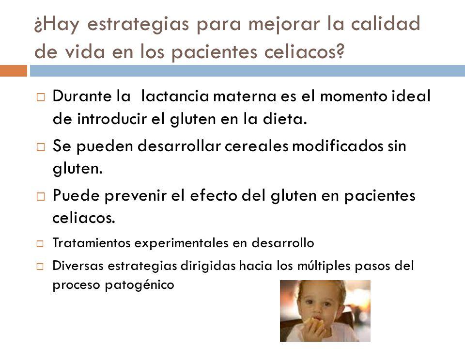 ¿Hay estrategias para mejorar la calidad de vida en los pacientes celiacos