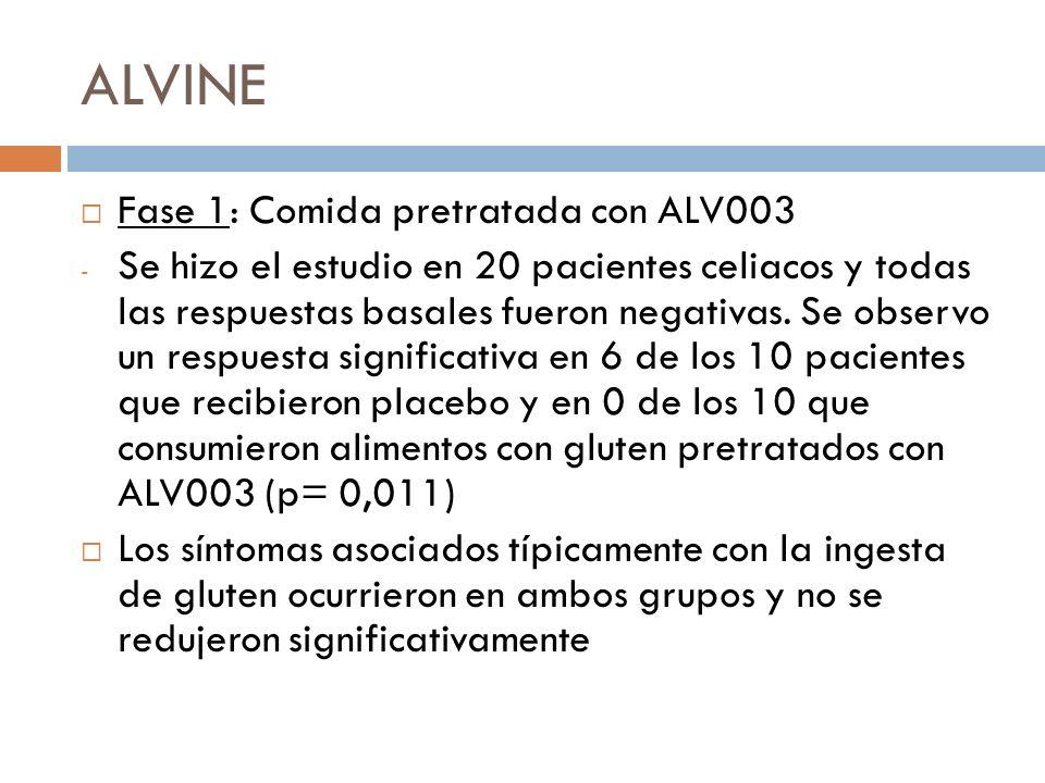 ALVINE Fase 1: Comida pretratada con ALV003