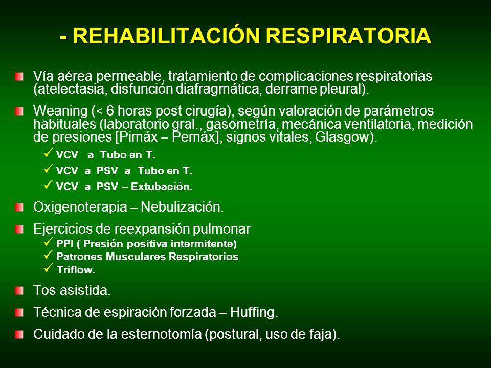 - REHABILITACIÓN RESPIRATORIA