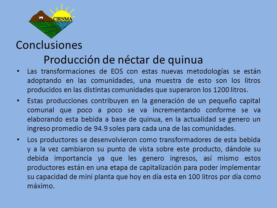Conclusiones Producción de néctar de quinua