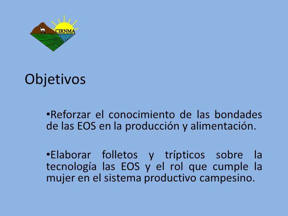 ObjetivosReforzar el conocimiento de las bondades de las EOS en la producción y alimentación.