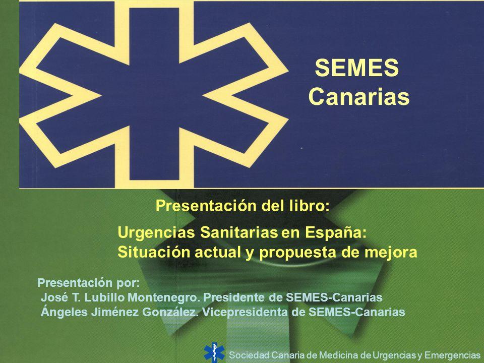 SEMES Canarias Presentación del libro: Urgencias Sanitarias en España: