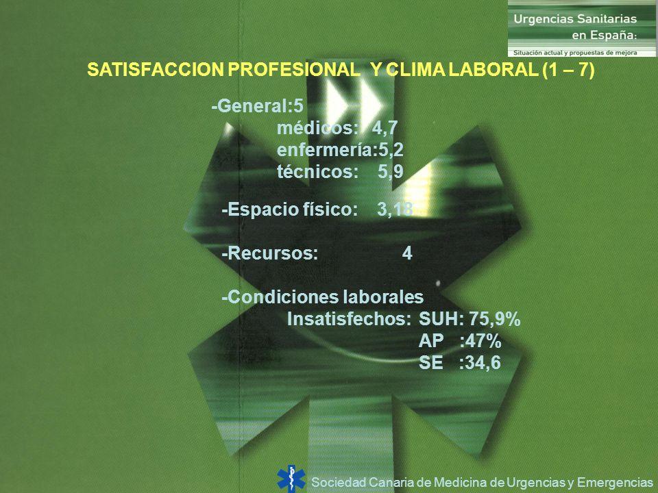 SATISFACCION PROFESIONAL Y CLIMA LABORAL (1 – 7)