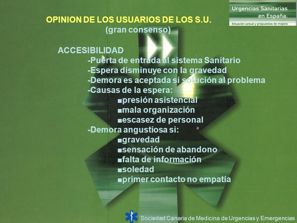 OPINION DE LOS USUARIOS DE LOS S.U.