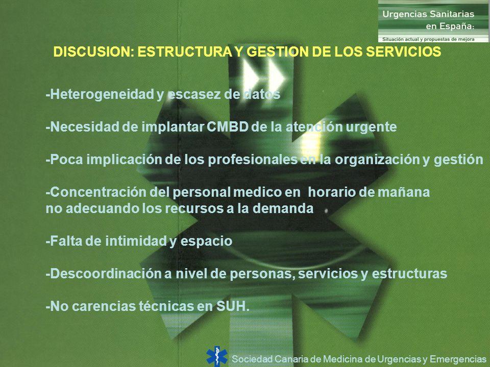 DISCUSION: ESTRUCTURA Y GESTION DE LOS SERVICIOS