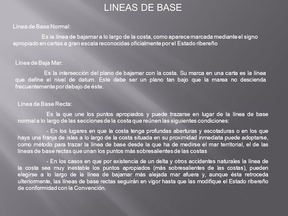 LINEAS DE BASE Línea de Base Normal: