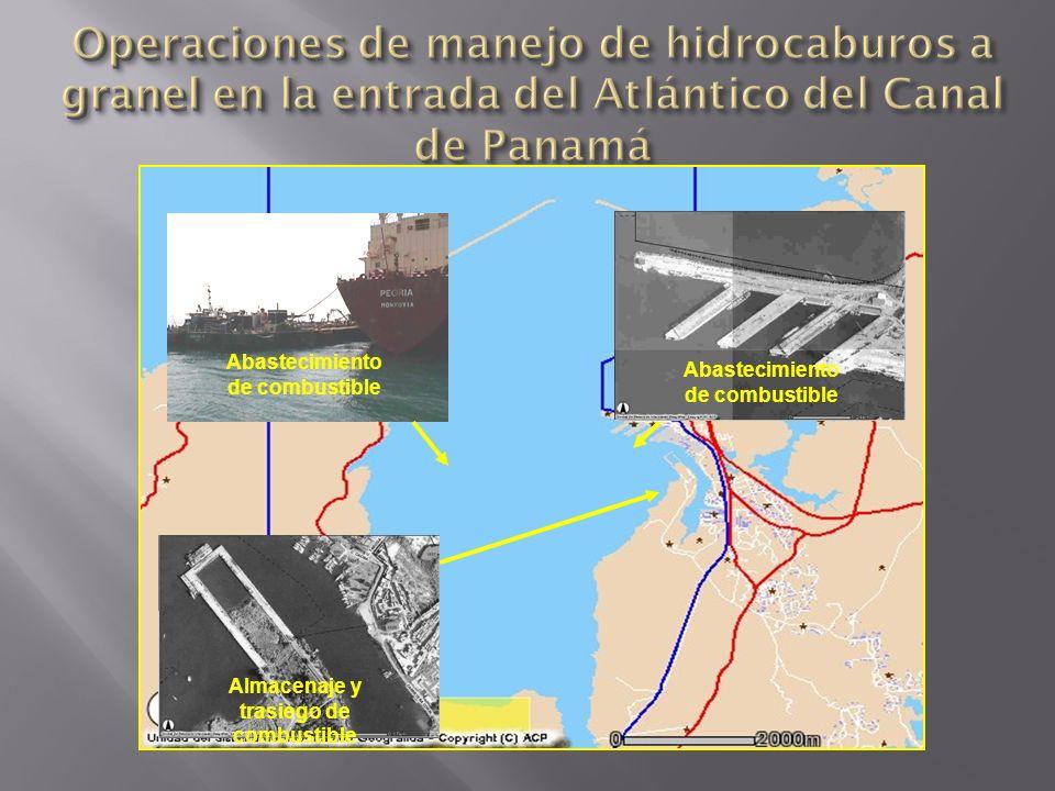 Operaciones de manejo de hidrocaburos a granel en la entrada del Atlántico del Canal de Panamá