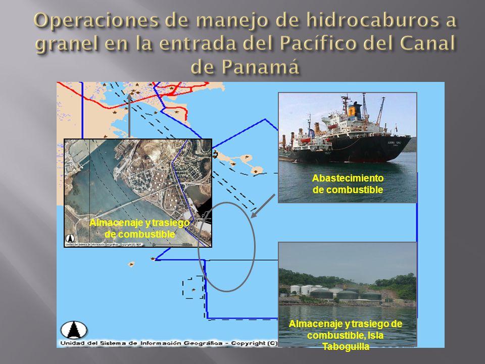 Operaciones de manejo de hidrocaburos a granel en la entrada del Pacífico del Canal de Panamá