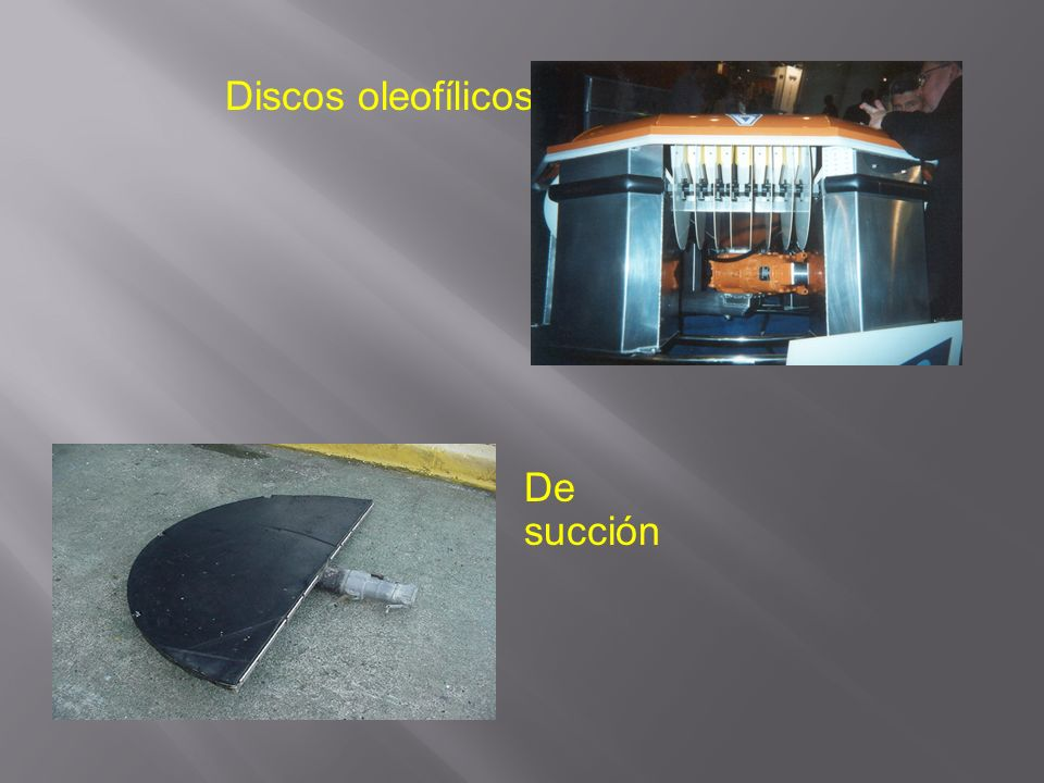 Discos oleofílicos De succión