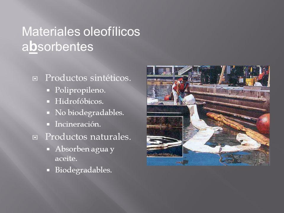 Materiales oleofílicos absorbentes
