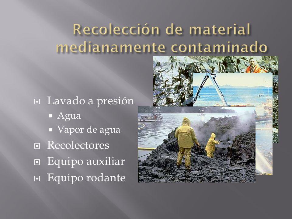 Recolección de material medianamente contaminado