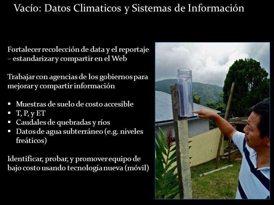 Vacío: Datos Climaticos y Sistemas de Información