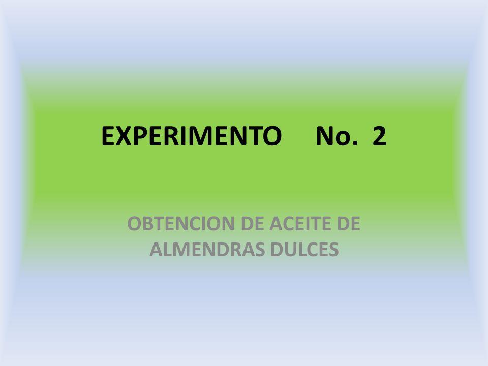 OBTENCION DE ACEITE DE ALMENDRAS DULCES