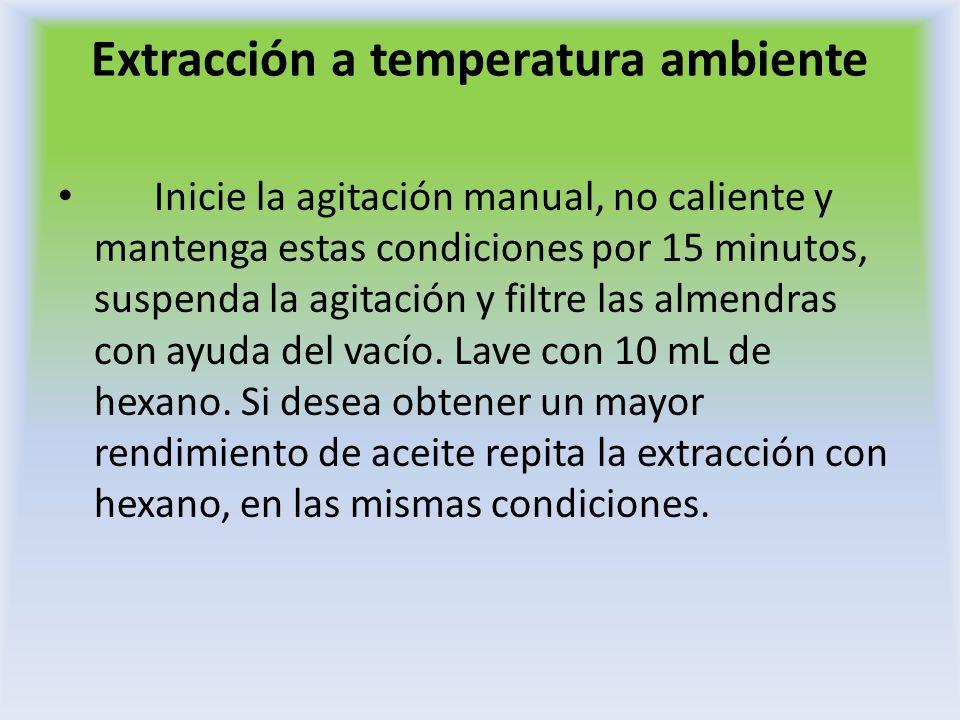 Extracción a temperatura ambiente