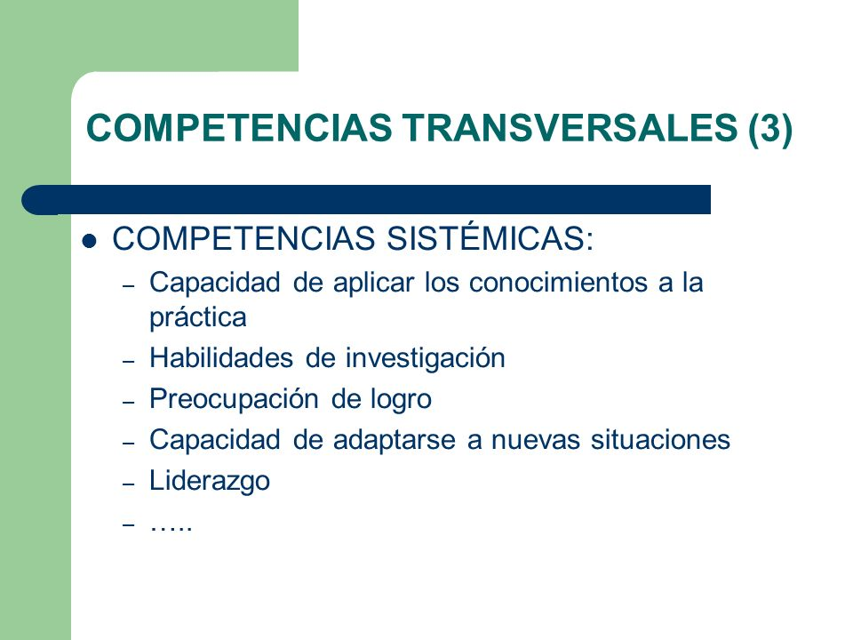 COMPETENCIAS TRANSVERSALES (3)