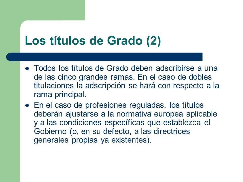 Los títulos de Grado (2)