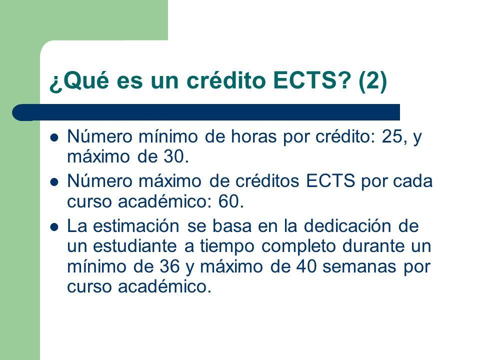 ¿Qué es un crédito ECTS (2)
