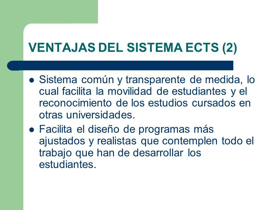 VENTAJAS DEL SISTEMA ECTS (2)