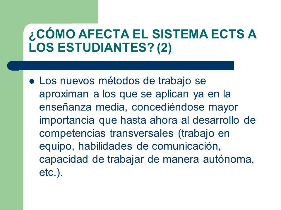 ¿CÓMO AFECTA EL SISTEMA ECTS A LOS ESTUDIANTES (2)