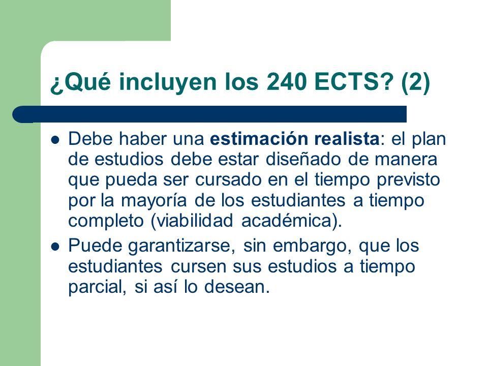 ¿Qué incluyen los 240 ECTS (2)