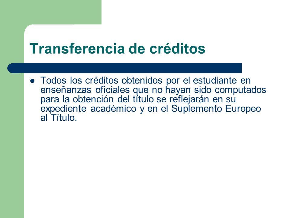 Transferencia de créditos