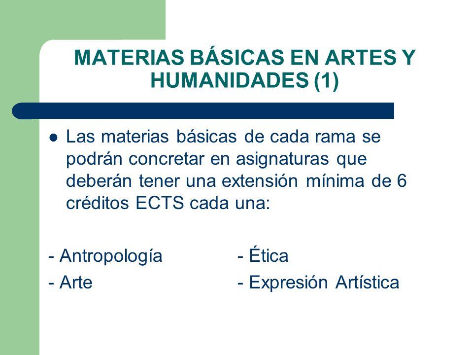 MATERIAS BÁSICAS EN ARTES Y HUMANIDADES (1)