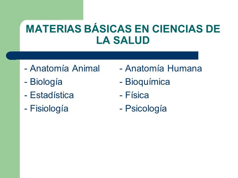 MATERIAS BÁSICAS EN CIENCIAS DE LA SALUD
