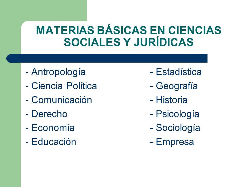 MATERIAS BÁSICAS EN CIENCIAS SOCIALES Y JURÍDICAS
