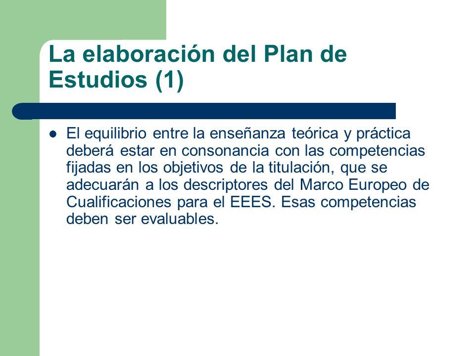 La elaboración del Plan de Estudios (1)