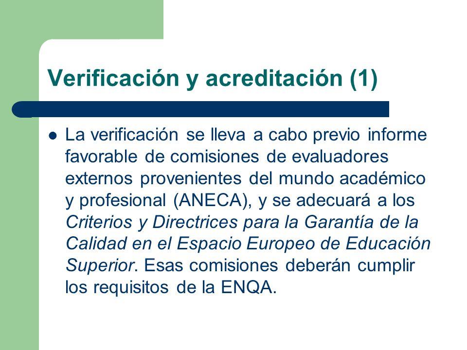 Verificación y acreditación (1)