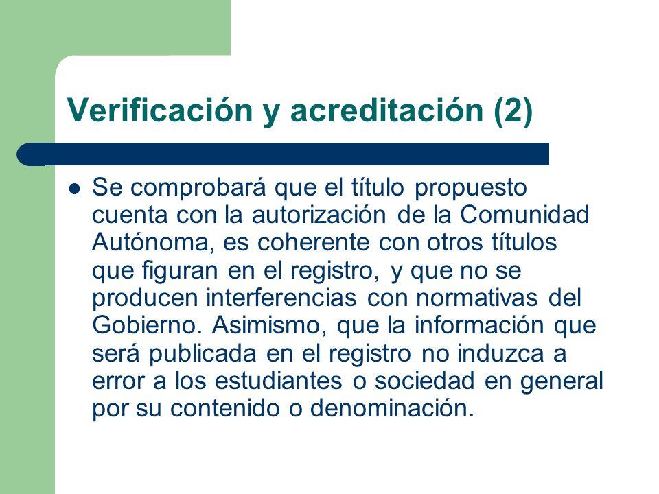 Verificación y acreditación (2)