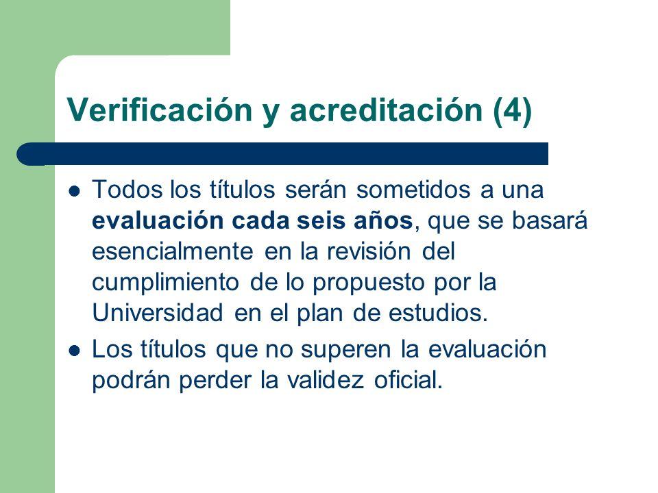 Verificación y acreditación (4)