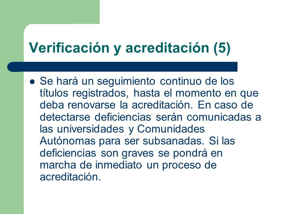 Verificación y acreditación (5)