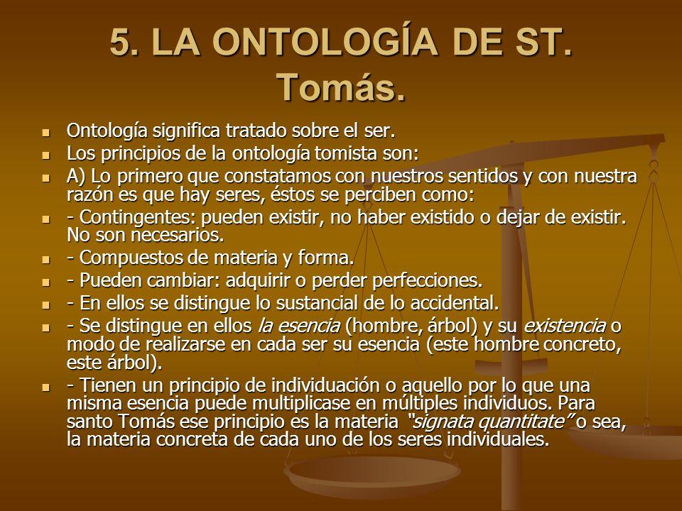 5. LA ONTOLOGÍA DE ST. Tomás.