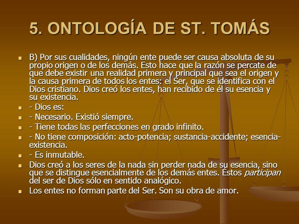 5. ONTOLOGÍA DE ST. TOMÁS