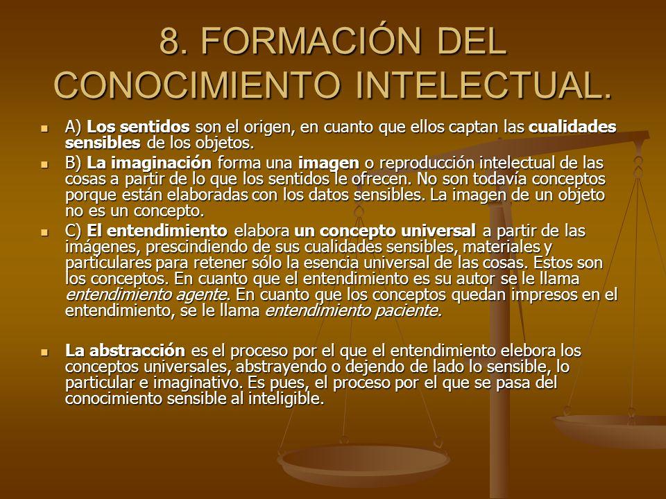 8. FORMACIÓN DEL CONOCIMIENTO INTELECTUAL.
