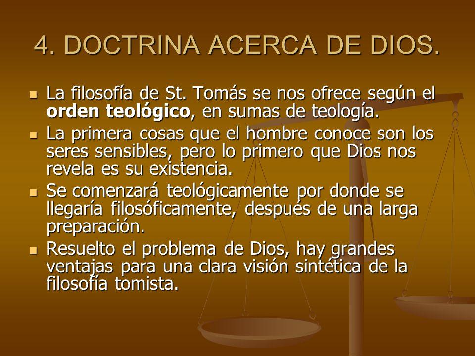 4. DOCTRINA ACERCA DE DIOS.
