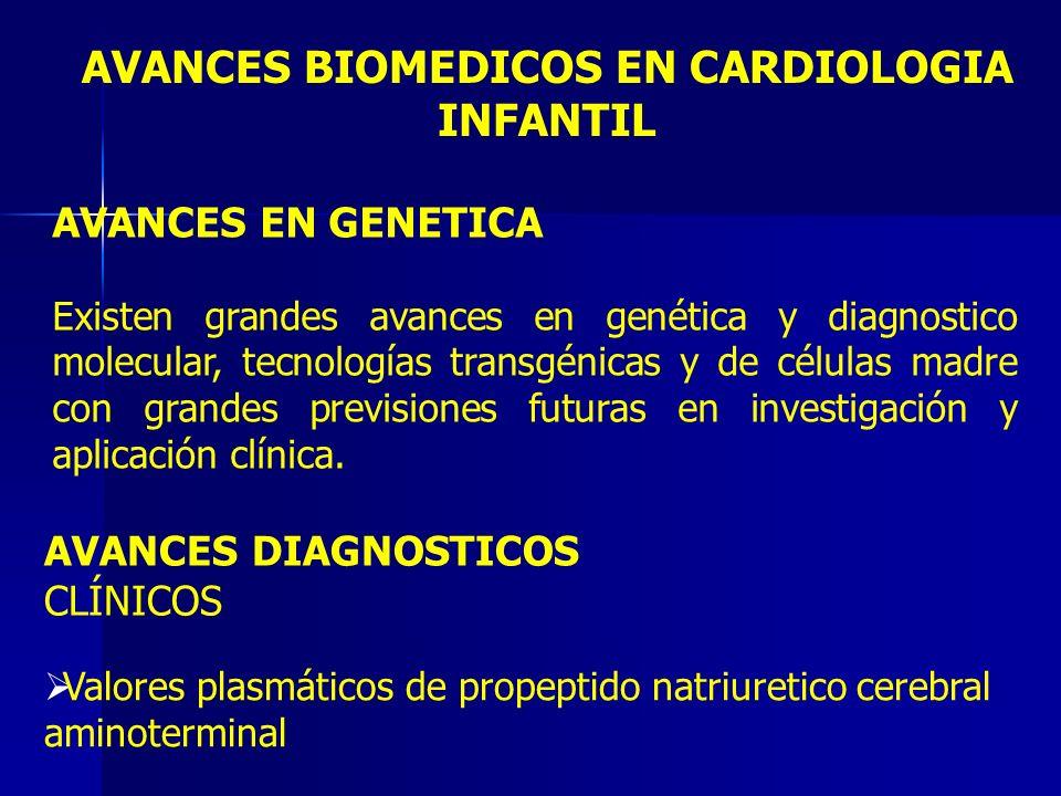 AVANCES BIOMEDICOS EN CARDIOLOGIA INFANTIL