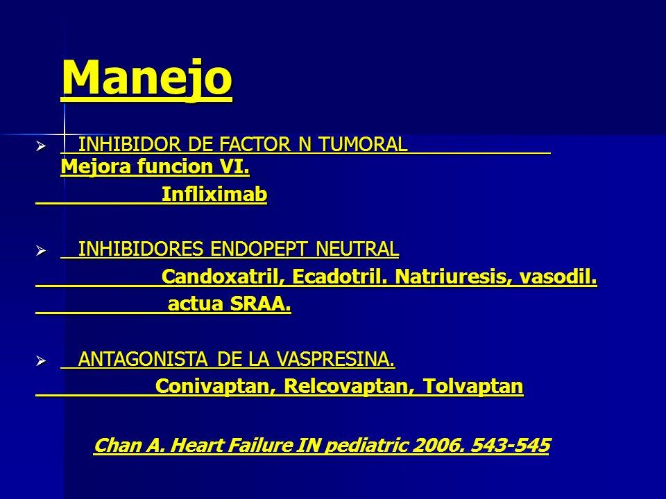 Manejo INHIBIDOR DE FACTOR N TUMORAL Mejora funcion VI. Infliximab